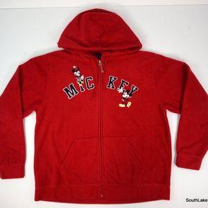 VTG Walt Disney Fleece Full Zip Hoodie Sweatshirt